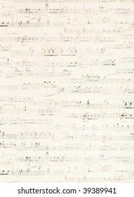 old music score