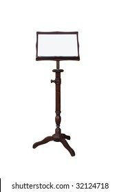 an old music stand is on white background