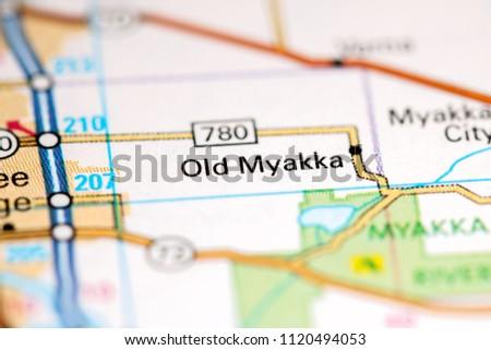 Florida Usa Map.Old Myakka Florida Usa On Map Stock Photo Edit Now 1120494053
