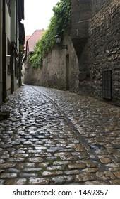 Old Narrow Medieval Street in Germany