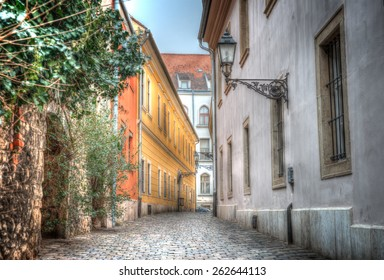 the old narrow streets of Budapest