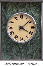 old natural stone clock