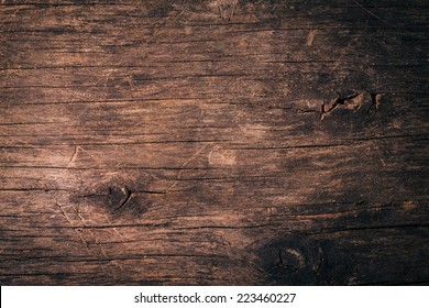 Old natural wooden shabby background close up
