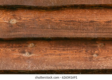 Old natural wooden shabby background close up. Grunge background of old dark brown wooden plank. Wood Texture
