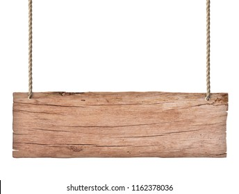 old nature wood sign isolated on white background 2