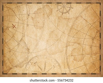 old nautical treasure vintage map theme background