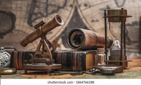 Old Navigation Measuring Instrument Tool