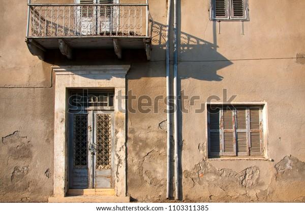 old neglected facade