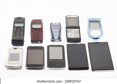 Old and new Mobile phones, smartphone