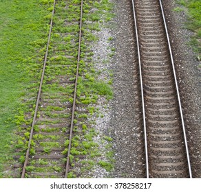 Old and new railway tracks