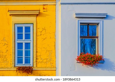 old and new windows in a house