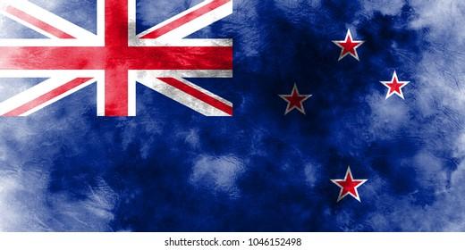 Old New Zealand grunge background flag