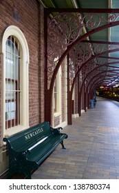 Old Newcastle Railway Station at Night, Newcastle, Australia