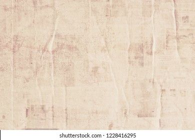 OLD NEWSPAPER BACKGROUND, CRUPMLED PAPER TEXTURE