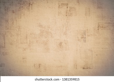 OLD NEWSPAPER BACKGROUND, DARK GRUNGE PAPER TEXTURE