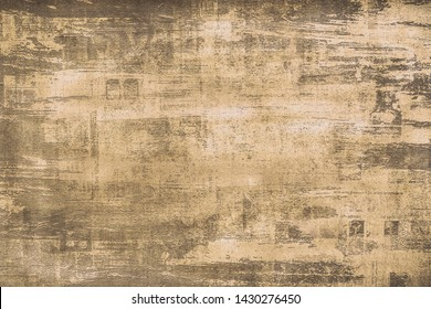 OLD NEWSPAPER BACKGROUND, DARK SCRATCHED GRUNGE PAPER TEXTURE, NEWSPRINT PATTERN