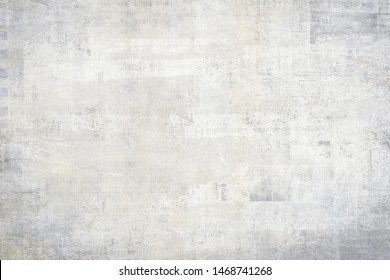 OLD NEWSPAPER BACKGROUND, GREY GRUNGE SCRATCHED PAPER TEXTURE