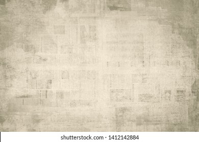 OLD NEWSPAPER BACKGROUND, GRUNGE DIRTY PAPER TEXTURE, SCRATCHED PATTERN