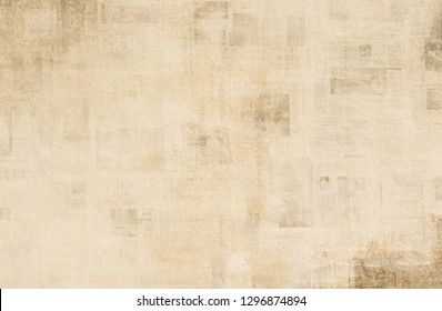 OLD NEWSPAPER BACKGROUND, GRUNGE PAPER TEXTURE, SPACE FOR TEXT, OLD DESIGN