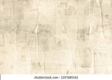 OLD NEWSPAPER BACKGROUND, GRUNGY AND CRUMPLED PAPER TEXTURE