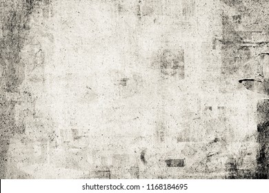 OLD NEWSPAPER BACKGROUND, GRUNGY PAPER TEXTURE, SPACE FOR TEXT