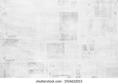 OLD NEWSPAPER BACKGROUND, GRUNGY PAPER TEXTURE, BLACK AND WHITE NEWS PRINT PATTERN, WALLPAPER DESIGN WITH UNREADABLE TEXT - Shutterstock ID 1924622015