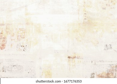 OLD NEWSPAPER BACKGROUND, GRUNGY WALLPAPER TEXTURE, TEXTURED PATTERN