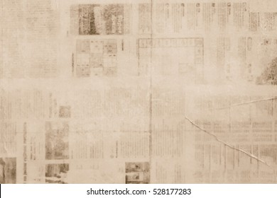 OLD NEWSPAPER BACKGROUND, PAPER TEXTURE, SPACE FOR TEXT