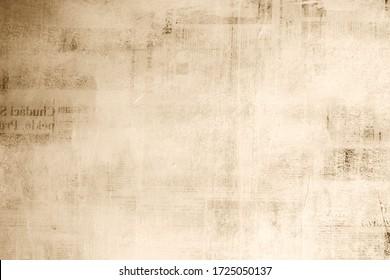old newspaper background texture wallpaper design tile. - Shutterstock ID 1725050137