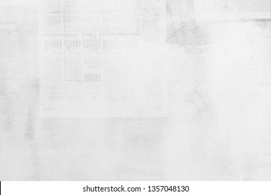 OLD NEWSPAPER BACKGROUND, WHITE GRUNGE PAPER TEXTURE, SPACE FOR TEXT