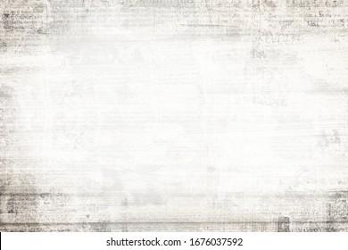 OLD NEWSPAPER BACKGROUND, WHITE GRUNGE PAPER TEXTURE, TEXTURED PATTERN