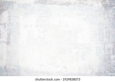 OLD NEWSPAPER BACKGROUND, WHITE GRUNGE PAPER TEXTURE, TEXTURED PATTERN WITH SPACE FOR TEXT, VINTAGE GRUNGY DESIGN