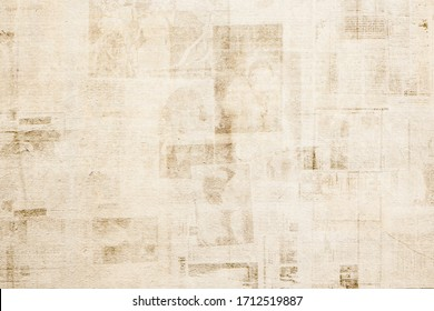 OLD NEWSPAPER BACKGROUNDS, PAPER TEXTURED PATTERN WITH OLD  NEWS PRINT