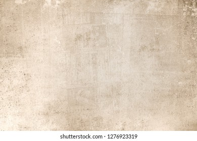 OLD NEWSPAPR BACKGROUND, GRUNGE PAPER TEXTURE, BROWN WALLPAPER PATTERN
