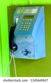 An old non working payphone that used cards instead of coins.