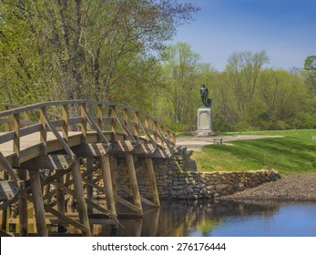 Old North Bridge, Concord, Mass, site of the first American victory in the Revolutionary War on April 19, 1775