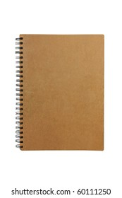 old notebook made from recycle paper