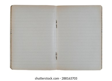 Old notebook on the white background.