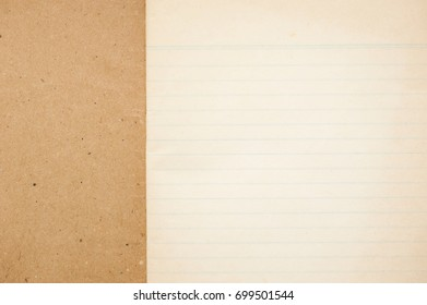 Old Notebook Paper Background.