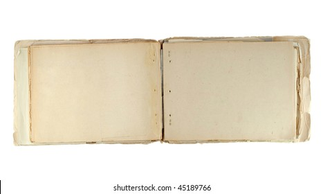 Old notepad isolated on white