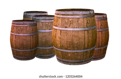 old oak barrels alcohol aging whiskey impregnated with wine giving a unique taste traditional production of the winemaker