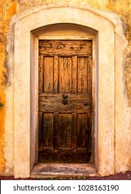 Old oak door in Provence, France