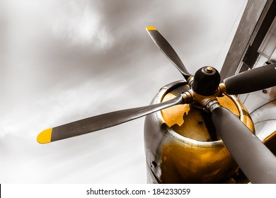 an old obsolete aircraft propeller