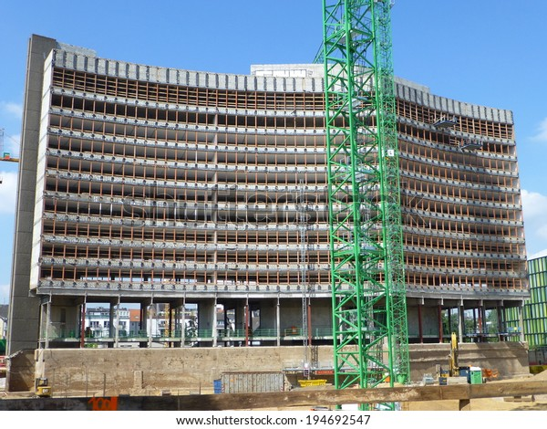 Old office building is being converted to apartment buildings, Cologne, Germany