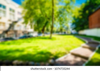 Old Office building theme creative abstract blur background with bokeh effect