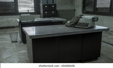 Old office with typewriter