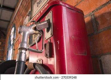 old oil gasoline dispenser