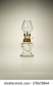 Old oil lamp isolated of the background