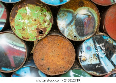 old oil tank background