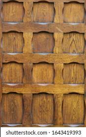 Old oiled wood door texture. - Shutterstock ID 1643419393